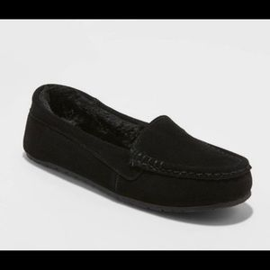 NWOT: Stars Above Black Suede Slippers!